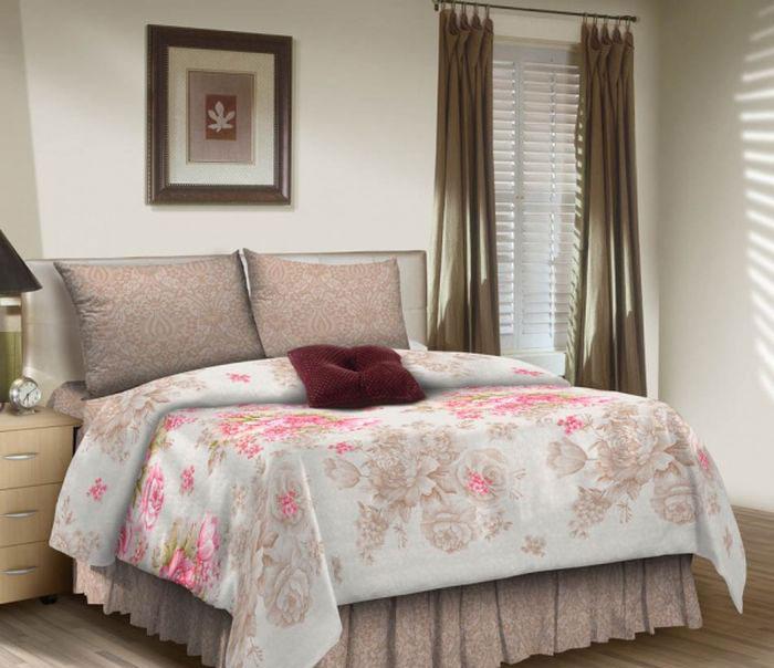Комплект белья ROKO, 2-спальный, наволочки 70х70, цвет: розовый, белый, серый меланж115942Комплект белья ROKO состоит из простыни, пододеяльника и 2 наволочек. Для производства постельного белья используются экологичные ткани высочайшего качества. Поплин - это тонкая и легкая хлопчатобумажная ткань высокой плотности полотняного переплетения, сотканная из пряжи высоких номеров. При изготовлении поплина используются длинноволокнистые сорта хлопка, что обеспечивает высокие потребительские свойства материала. Несмотря на свою утонченность, поплин очень практичен – это одна из самых износостойких тканей для постельного белья.