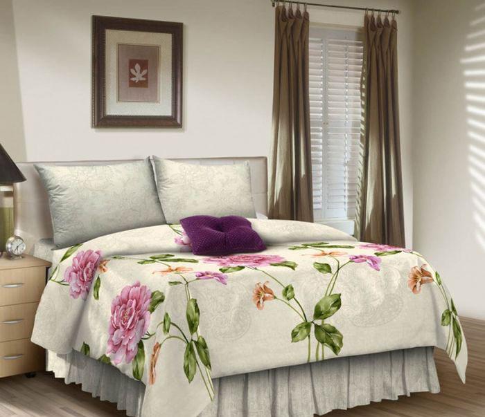 Комплект белья ROKO, семейный, наволочки 70х70, цвет: серый меланж, розовый, зеленый115952Комплект белья ROKO состоит из простыни, 2 пододеяльников и 2 наволочек. Для производства постельного белья используются экологичные ткани высочайшего качества. Поплин - это тонкая и легкая хлопчатобумажная ткань высокой плотности полотняного переплетения, сотканная из пряжи высоких номеров. При изготовлении поплина используются длинноволокнистые сорта хлопка, что обеспечивает высокие потребительские свойства материала. Несмотря на свою утонченность, поплин очень практичен – это одна из самых износостойких тканей для постельного белья.