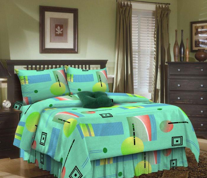 Комплект белья ROKO Muza, 2-спальный, наволочки 70х70, цвет: бирюзовый115964Комплект белья ROKO состоит из простыни, пододеяльник и 2 наволочек. Для производства постельного белья используются экологичные ткани высочайшего качества. Бязь - хлопчатобумажная плотная ткань полотняного переплетения. Отличается прочностью и стойкостью к многочисленным стиркам. Бязь считается одной из наиболее подходящих тканей, для производства постельного белья и пользуется в России большим спросом.