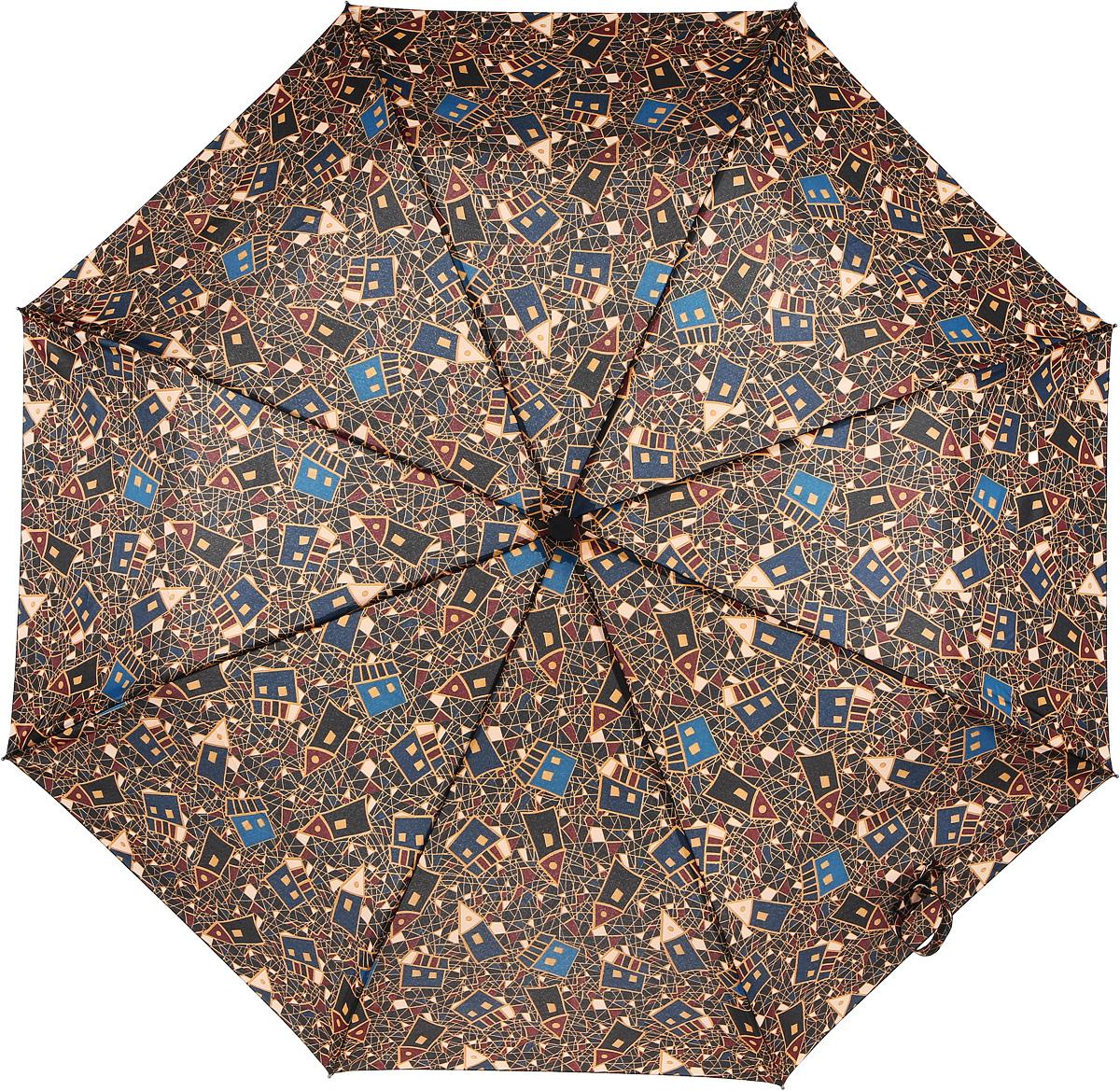 Зонт женский Airton, механический, 3 сложения, цвет: коричневый, голубой. 3515-1453515-145Классический женский зонт Airton в 3 сложения имеет механическую систему открытия и закрытия. Каркас зонта выполнен из восьми спиц на прочном стержне. Купол зонта изготовлен из прочного полиэстера. Практичная рукоятка закругленной формы разработана с учетом требований эргономики и выполнена из качественного пластика с противоскользящей обработкой. Такой зонт оснащен системой антиветер, которая позволяет спицам при порывах ветрах выгибаться наизнанку, и при этом не ломаться. К зонту прилагается чехол.