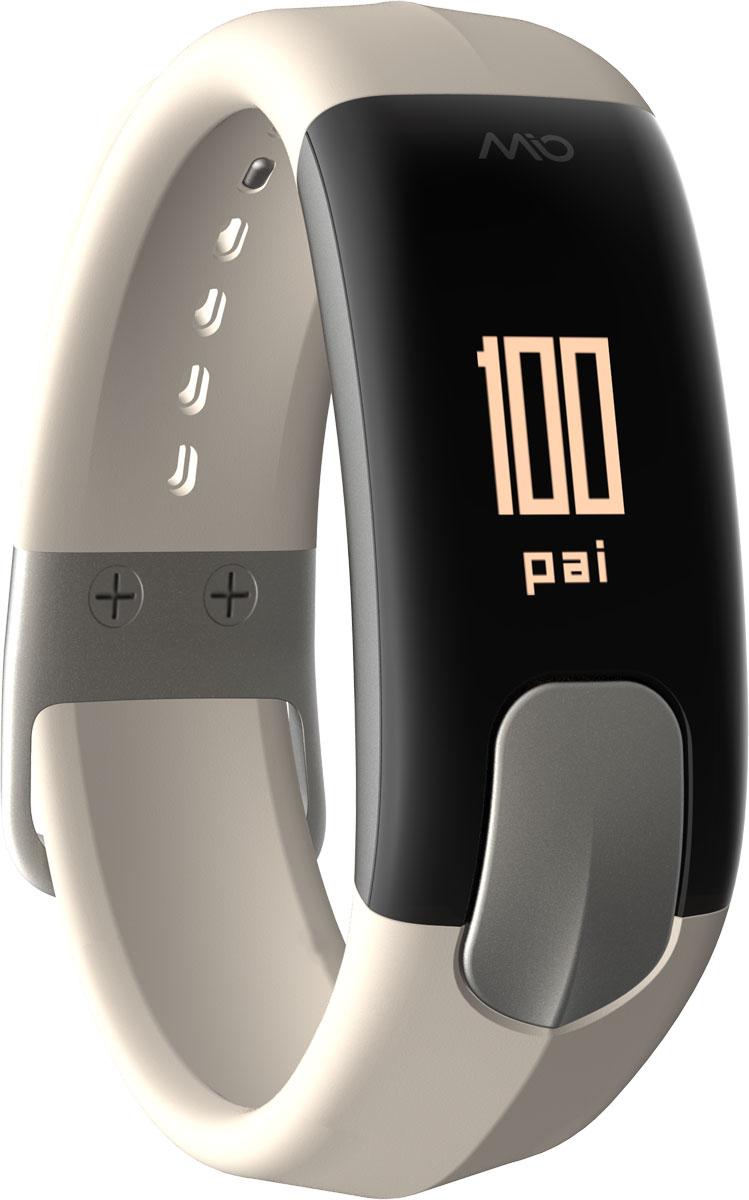Фитнес-трекер Mio Slice Large, цвет: серый. 60P-STO-LRG60P-STO-LRGMio SLICE - это первое носимое устройство, которое записывает ваш пульс в течение всего дня и преобразует собранные данные в очки PAI (Personal Activity Intelligence). PAI - это революционный персонализированный индекс активности, учитывающий реакцию организма на физические нагрузки. Помимо пульса, SLICE также позволяет отслеживать качество сна, расход калорий, дистанцию и другие показатели. И все это в одном стильном, влагозащищенном устройстве с простым и понятным управлением. Учет и отображение на дисплее очков PAI Круглосуточный контроль пульса (оптический датчик Mio) Подсчет ежедневной активности (шаги, калории, дистанция) Анализ качества сна по пульсу и минимального ЧСС за ночь Уведомления о входящих звонках и текстовых сообщениях со смартфона Влагозащищенность: выдерживает погружение на глубину до 30 метров. Аккумулятор: одного заряда хватает на 5 дней активного использования Встроенная память: может сохранять до 7 дней полных данных об...