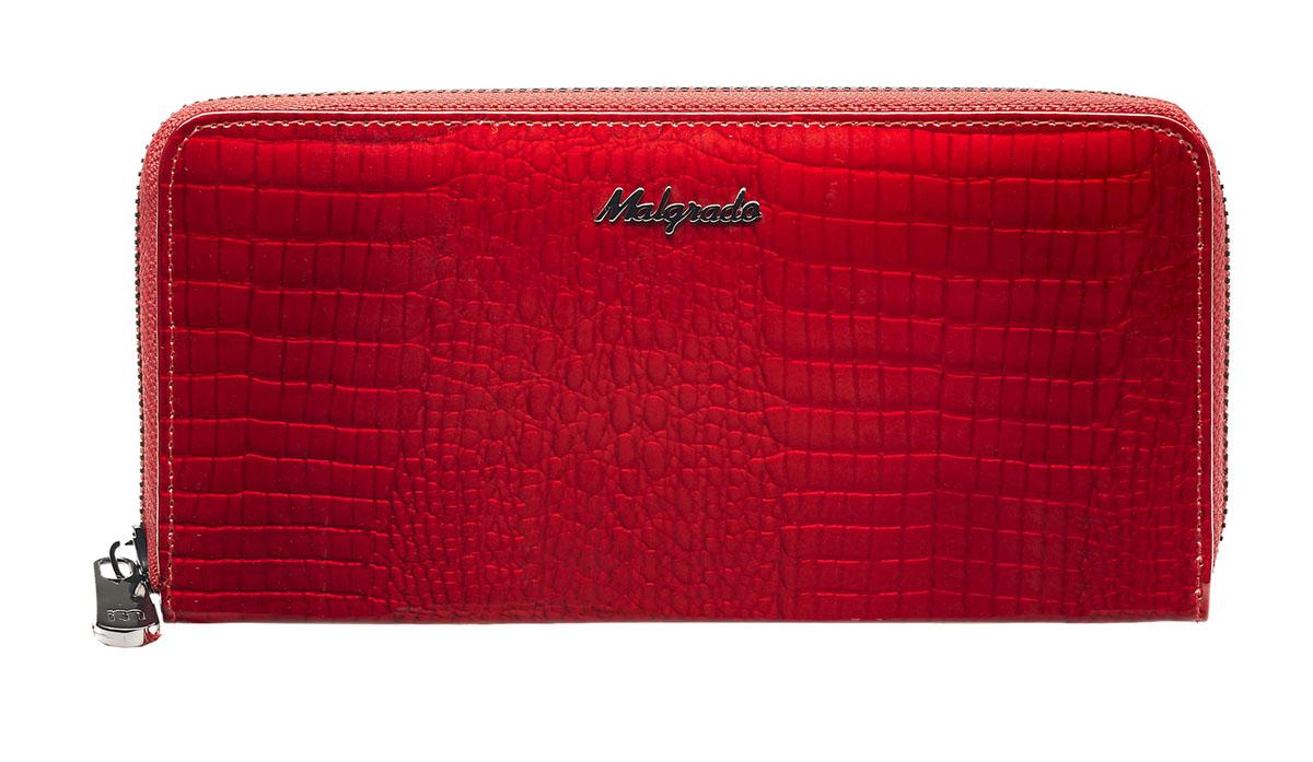 Клатч-кошелек женский Malgrado, цвет: красный. 77006-4477006-44