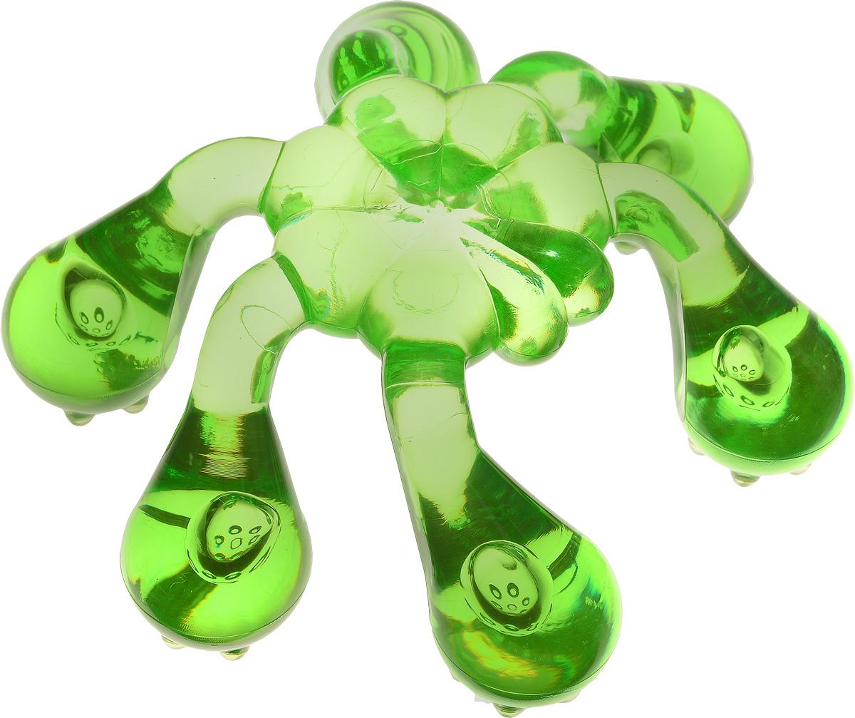Лапонька-краб Мануальный массажер, цвет: зеленый