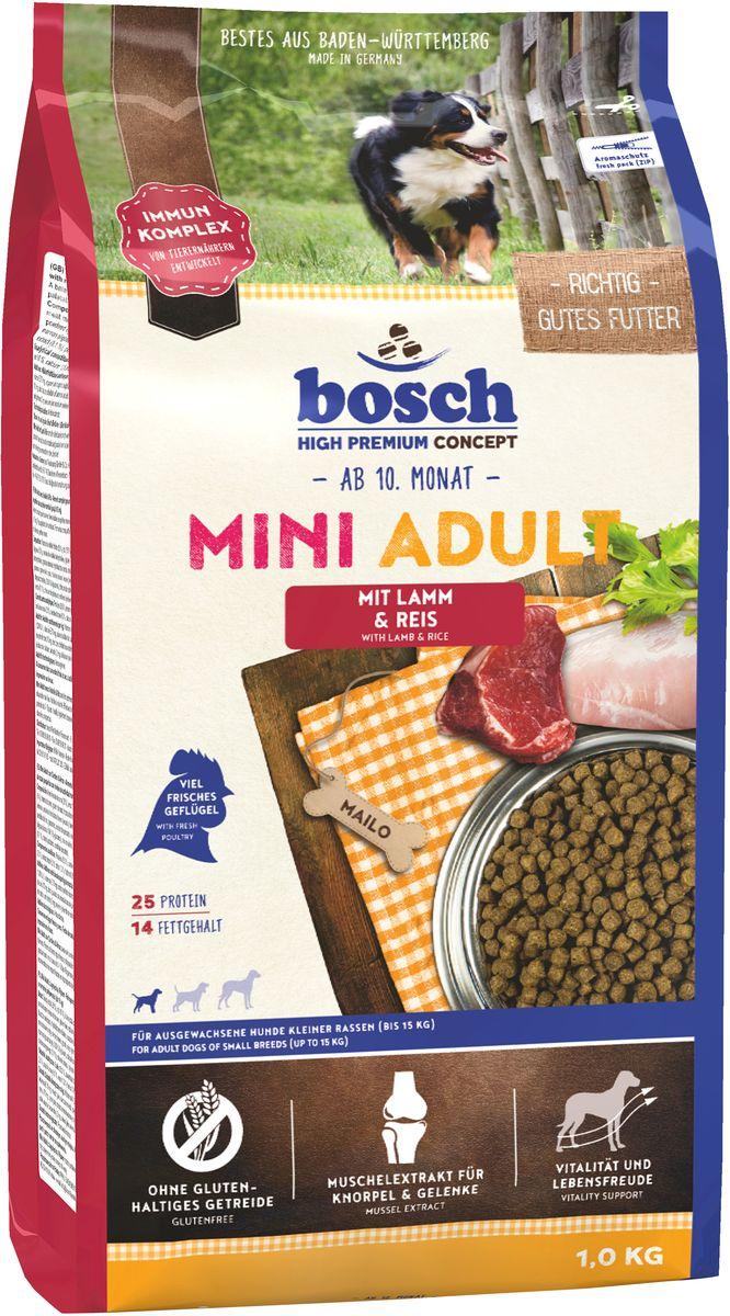 """Bosch Tiernahrung Корм сухой Bosch """"Mini Adult Lamb Rice"""" для взрослых собак мелких пород, ягненок с рисом, 1 кг 5338001"""