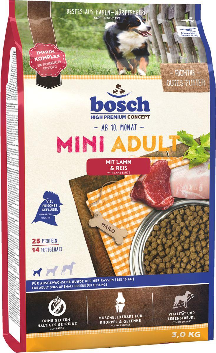 """Bosch Tiernahrung Корм сухой Bosch """"Mini Adult Lamb Rice"""" для взрослых собак мелких пород, ягненок с рисом, 3 кг 5338003"""