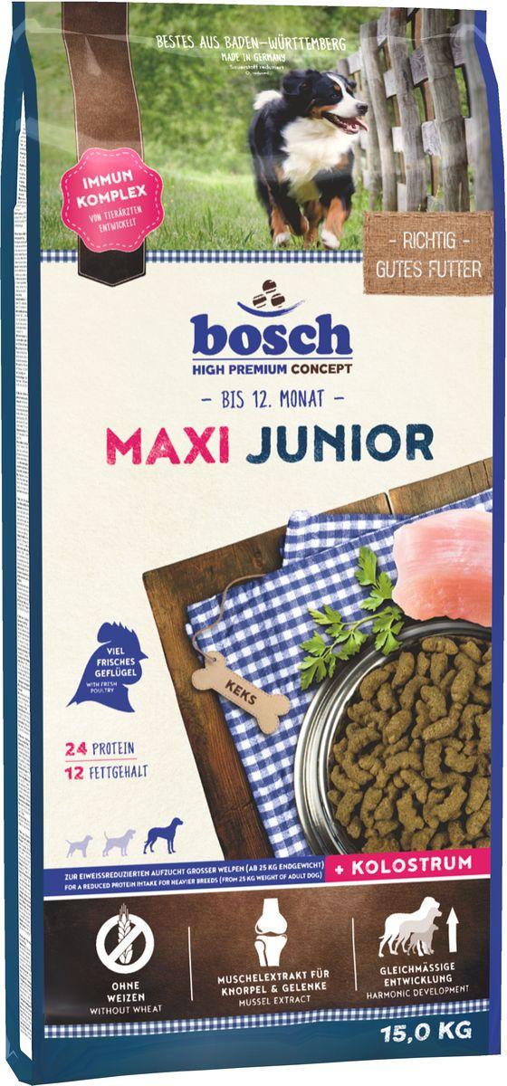 Корм сухой Bosch Junior Maxi для щенков крупных пород, 15 кг55030015Корм сухой Bosch Junior Maxi - полноценный корм для щенков крупных пород и щенков с массивным костяком. Обеспечьте питомца постоянным свободным доступом к свежей воде. Состав: свежее мясо домашней птицы, рис, ячмень, мясо домашней птицы, кукуруза, мука из свежего мяса, животный жир, свекольная пульпа, гидролизованное мясо, рыбная мука, яичный порошок, льняное семя, дрожжи, рыбий жир, поваренная соль, хлорид калия, мука из мидий, цикориевая пудра. Добавки (в 1 кг): Питательные добавки: Витамин А: 15,000 МЕ/кг, Витамин D3: 1,200 МЕ/кг, Витамин Е: 150 мг. Содержание питательных веществ: протеин 24,0%, содержание жира 12,0%, клетчатка 2,5%, минеральные вещества 6,5%, влажность 10,0%. Товар сертифицирован.