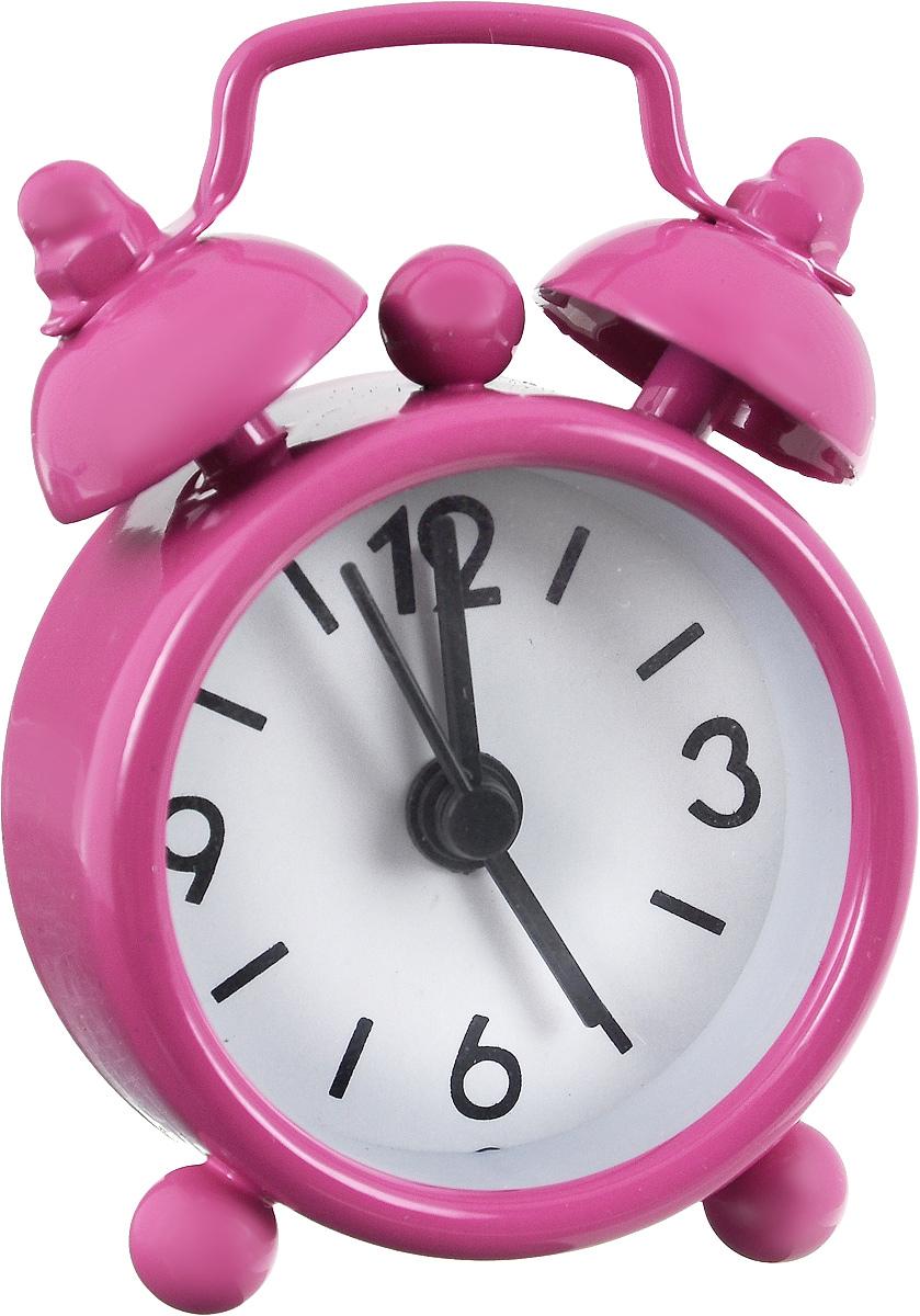 Часы-будильник Sima-land, цвет: фуксия. 11038981103898_фуксия