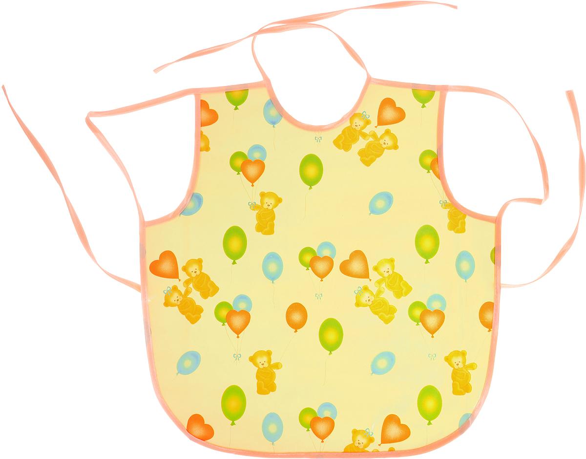 Колорит Фартук Мишки с шариками цвет желтый персиковый 36 х 38 см