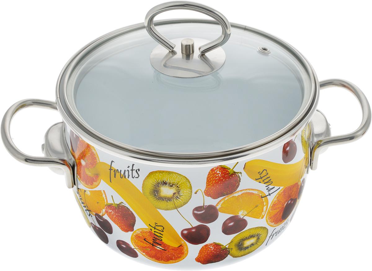Кастрюля Vitross Fruits с крышкой, 2 л1SC165SКастрюля Vitross Fruits выполнена из нержавеющей стали с эмалированным покрытием - наиболее безопасным видом покрытий посуды. Прочный стальной корпус обеспечивает эффективную тепловую обработку и не деформируется в процессе эксплуатации. Такая кастрюля идеальна для тепловой обработки и хранения пищевых продуктов, приготовления холодных блюд и сервировки стола. Кастрюля оснащена стеклянной крышкой с металлическим ободом и пароотводом. По бокам кастрюли расположены удобные стальные ручки. Подходит для всех типов плит, включая индукционные. Можно мыть в посудомоечной машине. Диаметр кастрюли (по верхнему краю): 17.5 см. Высота стенок кастрюли: 11 см. Ширина кастрюли с учетом ручек: 26 см.