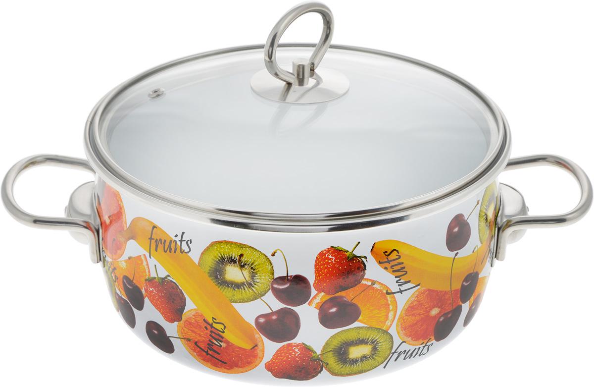 Кастрюля Vitross Fruits с крышкой, 4 л8SC205SКастрюля Vitross Fruits выполнена из нержавеющей стали с эмалированным покрытием - наиболее безопасным видом покрытий посуды. Прочный стальной корпус обеспечивает эффективную тепловую обработку и не деформируется в процессе эксплуатации. Такая кастрюля идеальна для тепловой обработки и хранения пищевых продуктов, приготовления холодных блюд и сервировки стола. Кастрюля оснащена стеклянной крышкой с металлическим ободом и пароотводом. По бокам кастрюли расположены удобные стальные ручки. Подходит для всех типов плит, включая индукционные. Можно мыть в посудомоечной машине. Диаметр кастрюли (по верхнему краю): 21.5 см. Высота стенок кастрюли: 13 см. Ширина кастрюли с учетом ручек: 31 см.