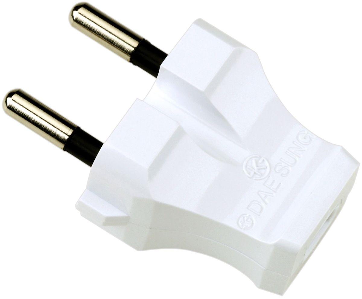 Вилка электрическая Daesung, плоская, прямая, 16 А, 250 В. ETC3101ETC3101Электрическая вилка Daesung выполнена из поликарбоната. Изделие предназначено для присоединения (разъединения) к электрической сети различных электрических приборов бытового назначения. Вилка позволяет произвести ремонт электрошнура в случае выхода из строя или повреждения неразборной вилки. Размер вилки: 6 х 3 х 2,5 см.
