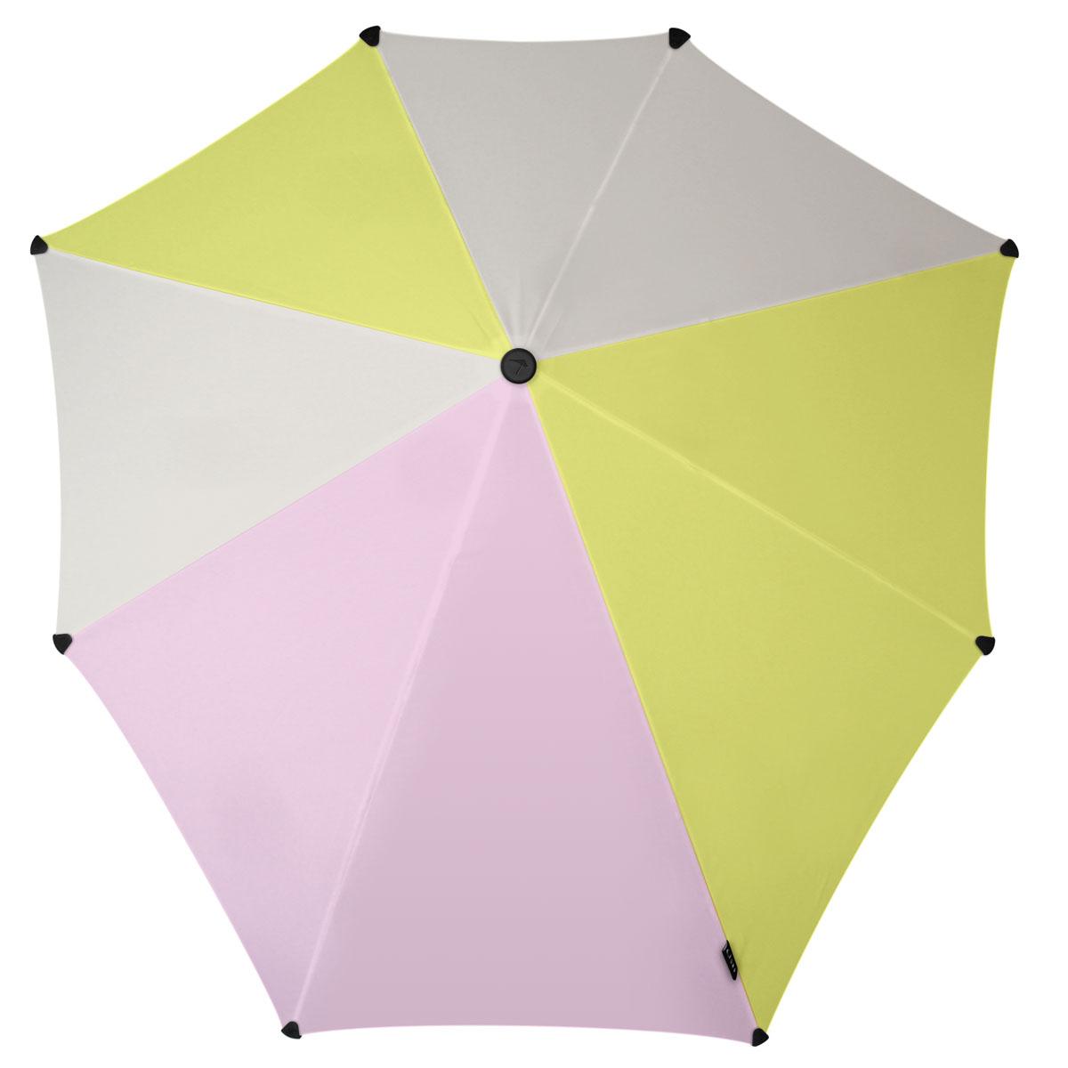 Зонт-трость Senz, цвет: серый, салатовый, розовый. 20110772011077Инновационный противоштормовый зонт, выдерживающий любую непогоду. Входит в коллекцию global playground, разработанную в соответствии с современными течениями fashion-индустрии. Вдохновением для дизайнеров стали улицы городов по всему земному шару. На новых принтах вы встретите уникальный микс всего, что мы открываем для себя во время путешествий: разнообразие оттенков, цветов, теней, линий и форм. Зонт Senz отлично дополнит образ, подчеркнет индивидуальность и вкус своего обладателя. Форма купола продумана так, что вы легко найдете самое удобное положение на ветру – без паники и без борьбы со стихией. Закрывает спину от дождя. Благодаря своей усовершенствованной конструкции, зонт не выворачивается наизнанку даже при сильном ветре. Модель Senz Original выдержала испытания в аэротрубе со скоростью ветра 100 км/ч. Характеристики: - тип — трость - выдерживает порывы ветра до 100 км/ч - УФ-защита 50+ - удобная мягкая ручка...