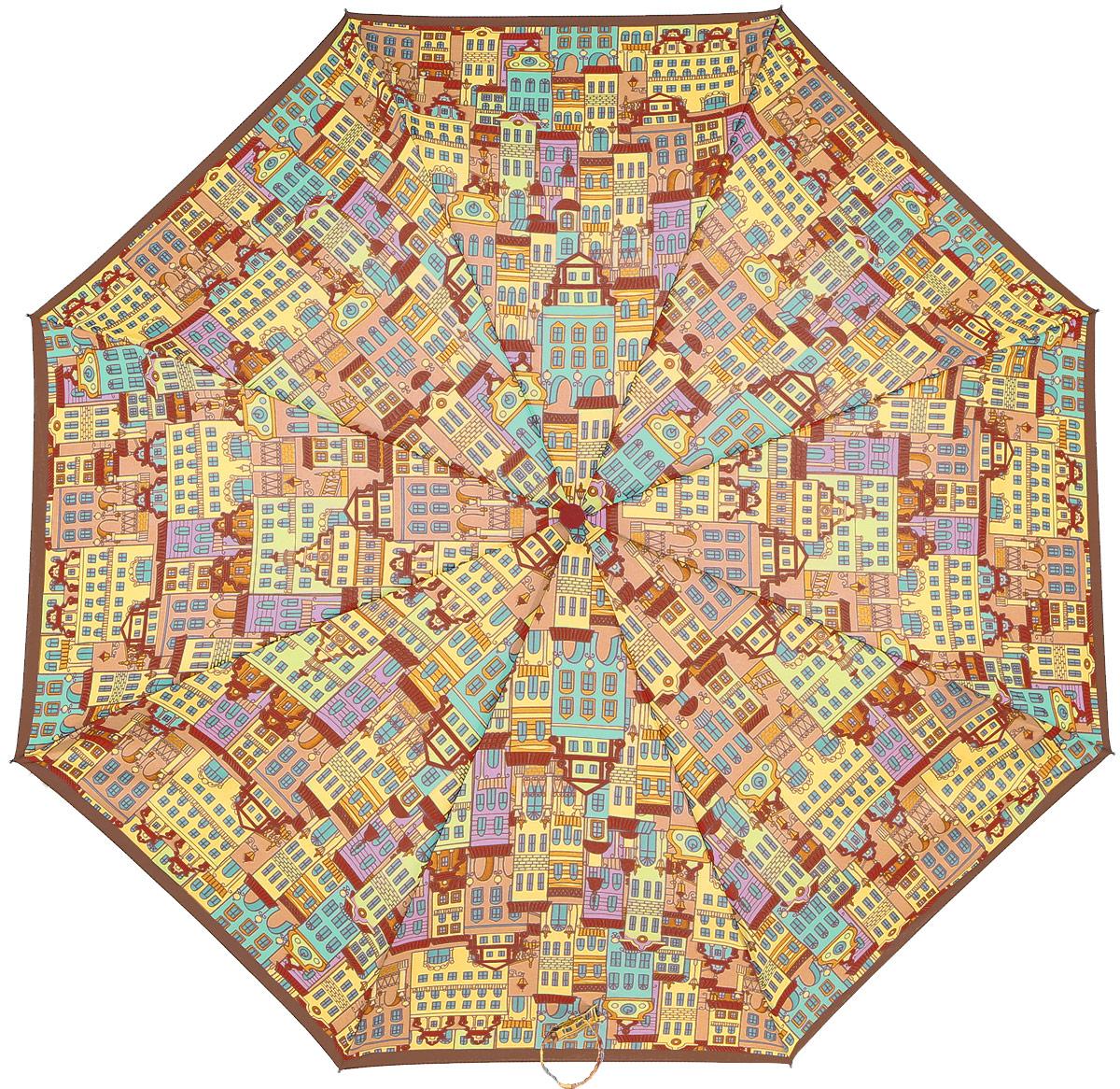 Зонт женский Airton, механический, 3 сложения, цвет: оранжевый, голубой. 3515-1213515-121Классический женский зонт Airton в 3 сложения имеет механическую систему открытия и закрытия. Каркас зонта выполнен из восьми спиц на прочном стержне. Купол зонта изготовлен из прочного полиэстера. Практичная рукоятка закругленной формы разработана с учетом требований эргономики и выполнена из качественного пластика с противоскользящей обработкой. Такой зонт оснащен системой антиветер, которая позволяет спицам при порывах ветрах выгибаться наизнанку, и при этом не ломаться. К зонту прилагается чехол.