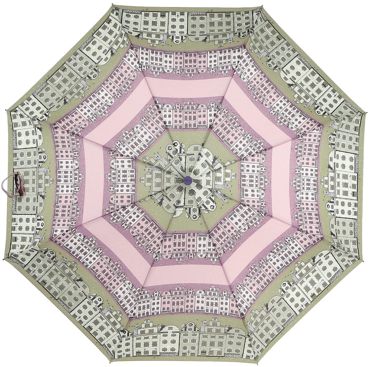 Зонт женский Airton, механический, 3 сложения, цвет: бежевый, розовый. 3515-1203515-120Классический женский зонт в 3 сложения с механической системой открытия и закрытия. Удобная ручка выполнена из пластика. Модель зонта выполнена в стандартном размере, оснащена системой Антиветер. Этот стильный аксессуар поместится практически в любую женскую сумочку благодаря своим небольшим размерам. Вес зонта- 300 гр.