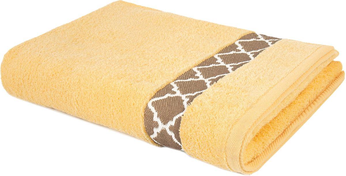 Полотенце махровое Aquarelle Таллин-1, 70 х 140 см, цвет: светло-желтый. 708415708415
