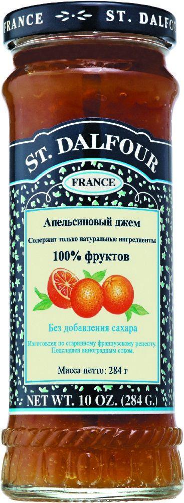 St.Dalfour Джем Апельсин, 284 г207029Без сахара. Изготовлен по старинным французским рецептам. Не содержит консервантов, искусственных ароматизаторов и красителей. Содержит только натуральные ингредиенты.