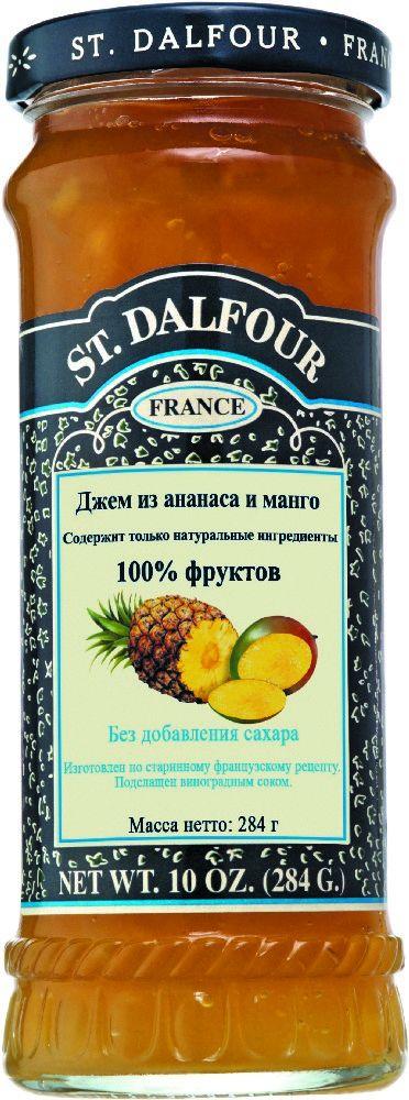 St.Dalfour Джем Ананас и Манго, 284 г207031Джем из ананаса и манго отличается насыщенным вкусом тропических фруктов.