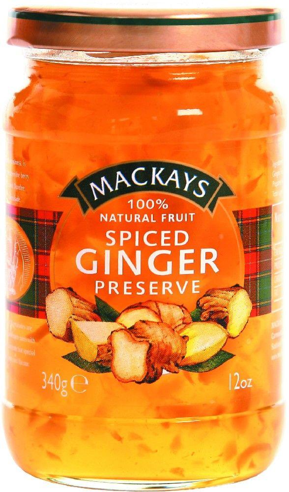 Mackays Десерт из имбиря, 340 г211116Традиционный джем, сваренный из корня имбиря с добавлением праздничных специй.