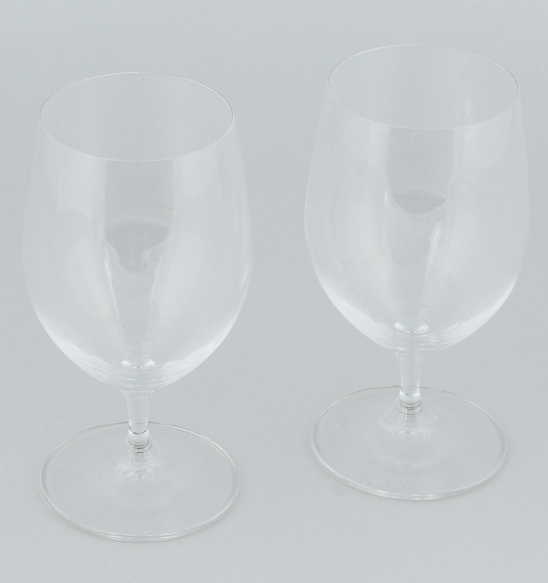 Набор бокалов Riedel Water, 350 мл, 2 шт6416/02Набор Riedel Water состоит из двух бокалов, выполненных из прочного стекла. Бокалы предназначены для подачи воды. Они сочетают в себе элегантный дизайн и функциональность. Благодаря такому набору пить напитки будет еще вкуснее. Набор бокалов Riedel Water прекрасно оформит праздничный стол и создаст приятную атмосферу за романтическим ужином. Такой набор также станет хорошим подарком к любому случаю. Можно мыть в посудомоечной машине. Диаметр бокала (по верхнему краю): 6,5 см. Высота бокала: 14,5 см.