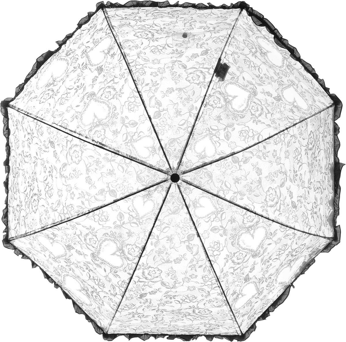 Зонт детский Airton, механический, трость, цвет: прозрачный, черный. 1651-061651-06Замечательный прозрачный зонтик для юной модницы с рисунком Сердечки. Механихм зонта - полуавтомат. Аксессуар сделан с соблюдением всех стандартов безопасности, острые концы заблокированы специальными клипсами, ручка в форме крюка позволит легко повесить зонт даже на собственную руку.