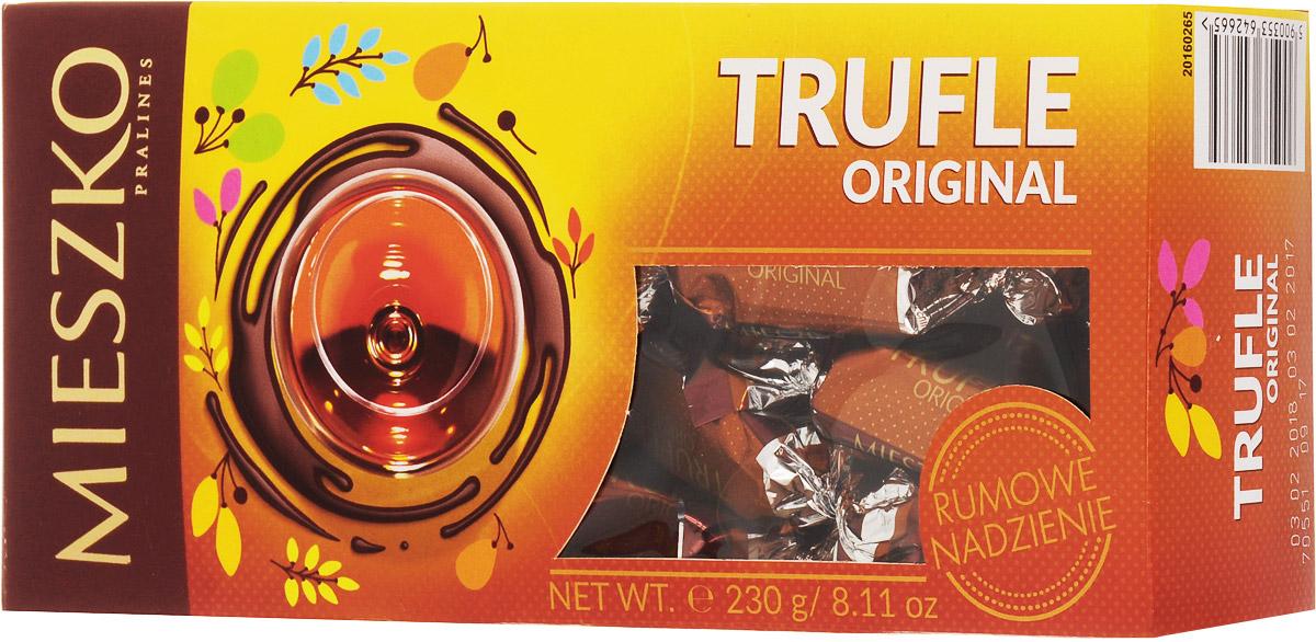 Mieszko Трюфель с ромом набор шоколадных конфет, 230 г15950Приятное лакомство из трюфельной начинки, со вкусом Рома, покрытые глазурью из темного шоколада. В конфетах Mieszko соединились два излюбленных лакомства мира сладостей: изысканная трюфельная начинка и качественный шоколад. Это лакомство понравится всем тем, кто предпочитает чистые классические вкусы. Конфеты покрыты самой лучшей шоколадной глазурью и не содержат консервантов.
