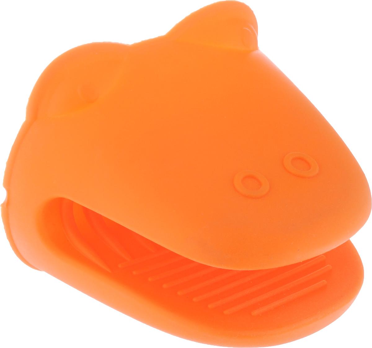 Прихватка Mayer & Boch, силиконовая, цвет: оранжевый, 11,5 х 9 см21940_оранжевыйСиликоновая прихватка Mayer & Boch предназначена для защиты рук от ожогов при контакте с горячей посудой. Благодаря удобной форме прихватка не нарушает тактильных ощущений рук в процессе использования и при этом обеспечивает их надежную защиту от высоких температур. Вы с легкостью сможете снять горячую посуду с плиты, извлечь форму для выпекания или противень из разогретого до максимальной температуры духового шкафа или разогретой микроволновой печи. Силиконовая прихватка не плавится, легко моется, не впитывает запахи и жир, не теряет внешнего вида с течением времени, служит долго.