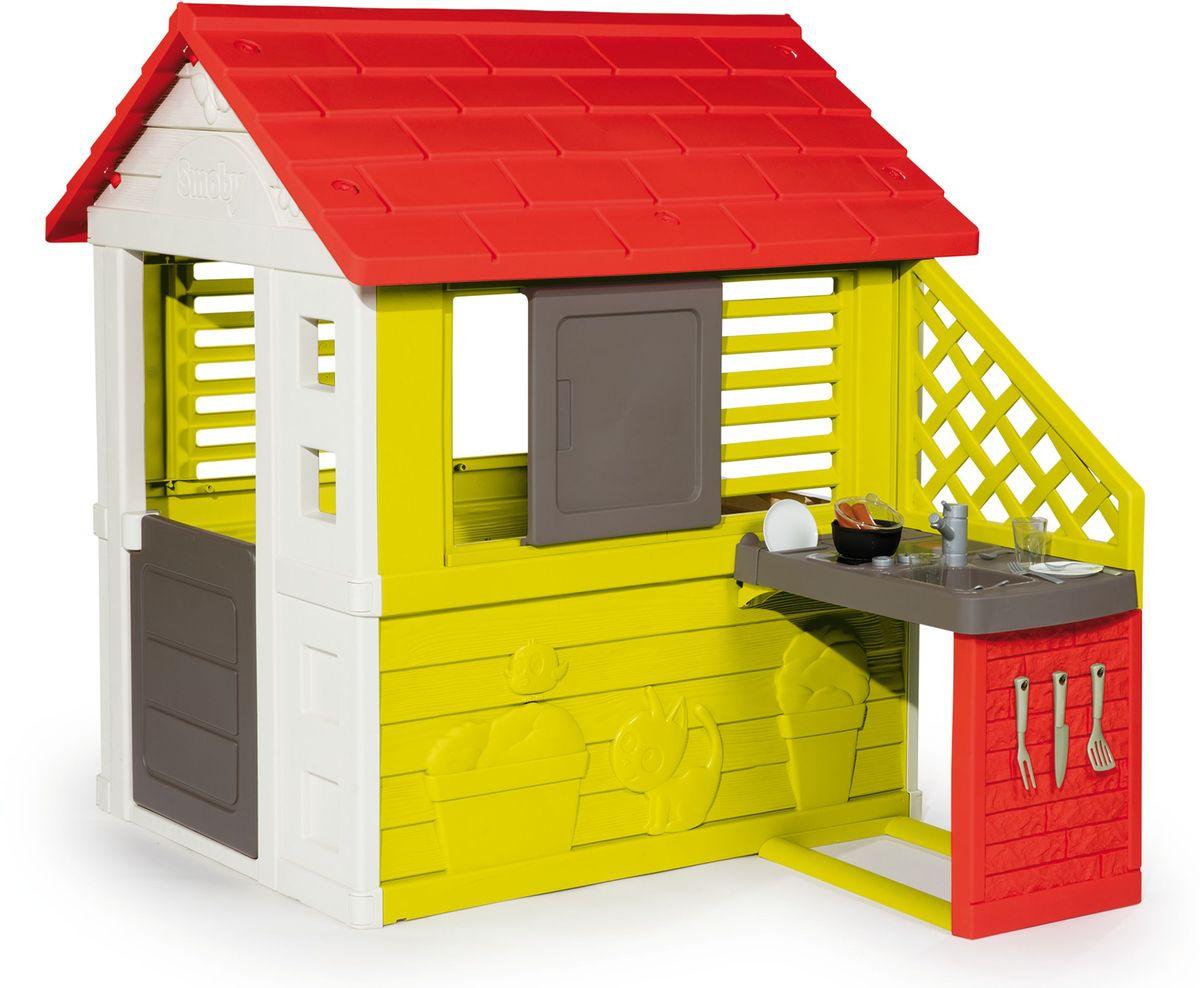 Smoby Игровой домик с кухней цвет красный