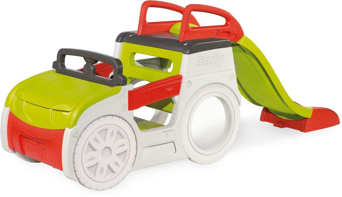 Smoby Игровой комплекс Машина приключений с горкой и песочницей 840200