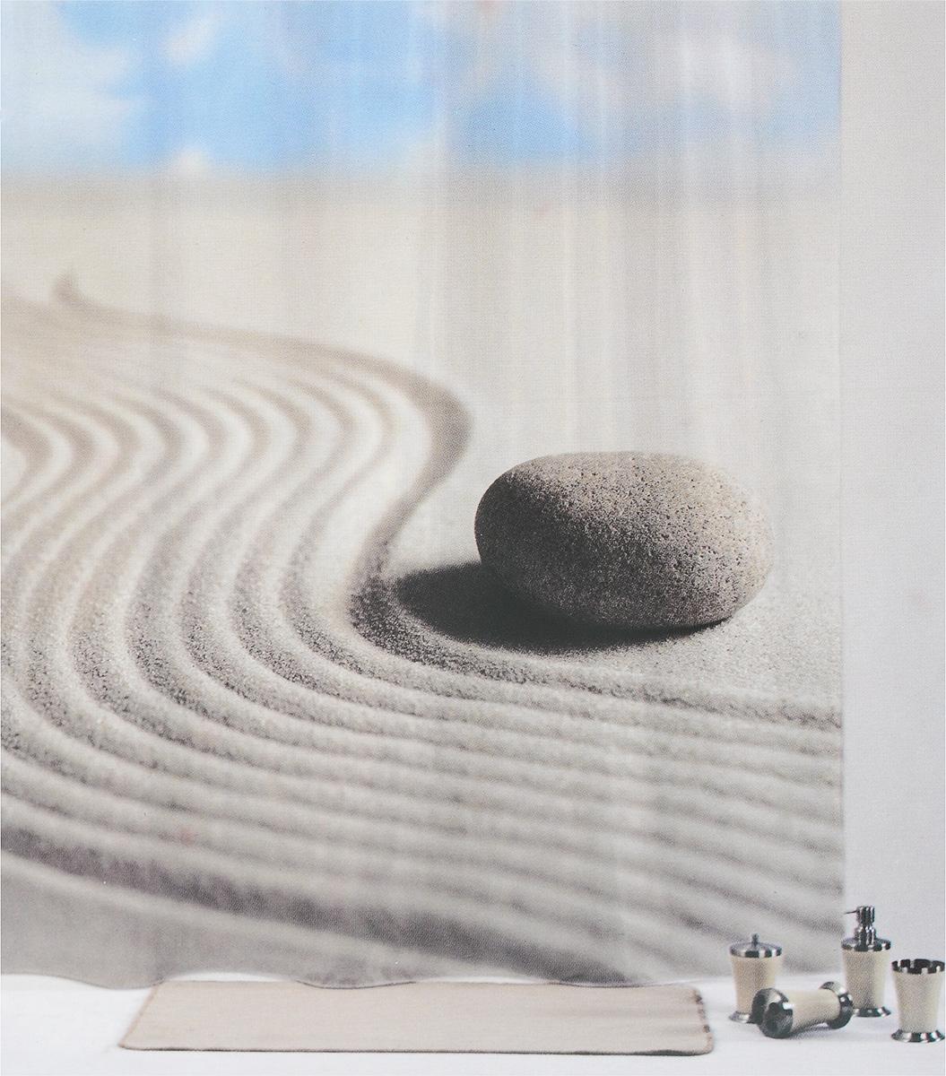 Штора для ванной комнаты Aqva Line Лунный камень, 180 х 180 см1301038Штора Aqva Line Лунный камень, изготовленная из 100% полиэстера, отлично дополнит любой интерьер ванной комнаты. При изготовлении используются специальные гипоаллергенные чернила для прямой печати по ткани, безопасные для человека. В комплекте: 1 штора, 12 крючков.