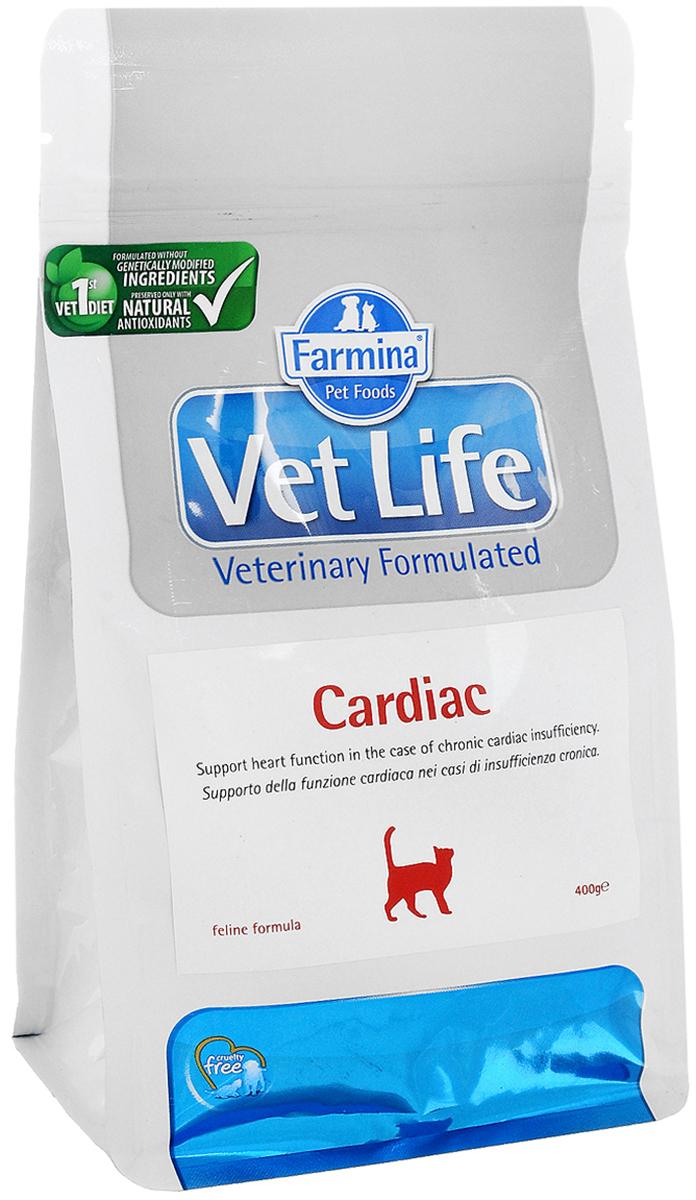 Корм сухой Farmina Vet Life для кошек, для поддержания работы сердца при хронической сердечной недостаточности, диетический, 400 г30382Корм Farmina Vet Life - это диетическое питание для собак, предназначенное для поддержания работы сердца при хронической сердечной недостаточности. Диета содержит низкий уровень натрия и оптимальное соотношение калия/натрия. Корм способствует оптимальной работе кишечника. Входящий в состав таурин регулирует сократительную способность миокарда, L- карнитин повышает устойчивость к физическим нагрузкам, Омега-3 оказывает противовоспалительное воздействие. Товар сертифицирован.