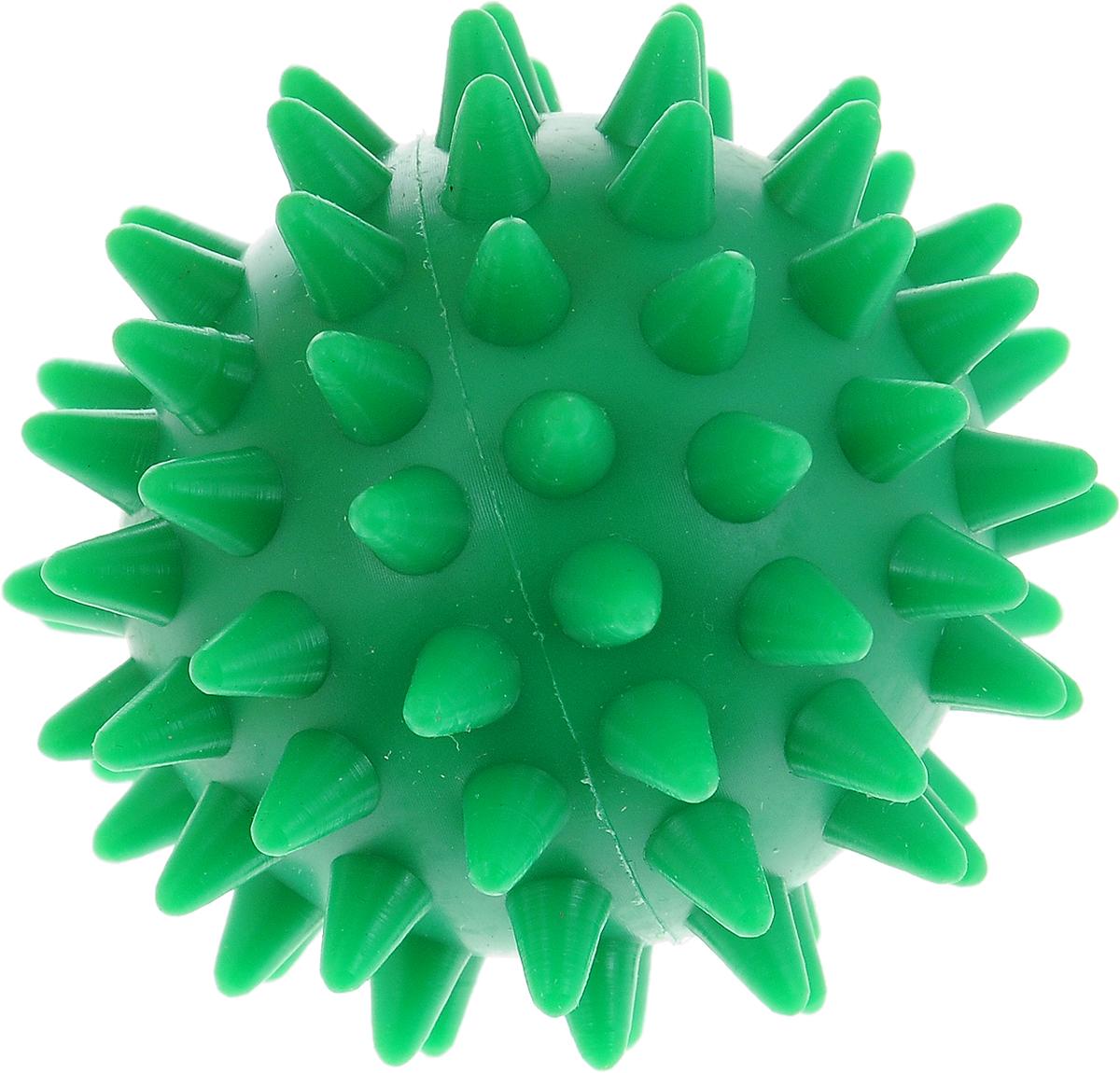 Игрушка для собак V.I.Pet Массажный мяч, цвет: зеленый, диаметр 5,5 смBL11-015-55_зеленыйИгрушка для собак V.I.Pet Массажный мяч, изготовленная из ПВХ, предназначена для массажа и самомассажа рефлексогенных зон. Она имеет мягкие закругленные массажные шипы, эффективно массирующие и не травмирующие кожу. Игрушка не позволит скучать вашему питомцу ни дома, ни на улице. Диаметр: 5,5 см.