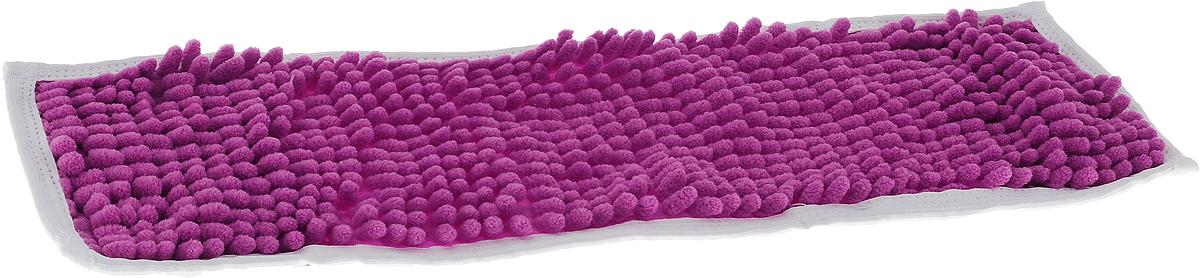 Насадка для швабры Коллекция, цвет: фиолетовый, 43 х 13 смХ5ТРШ_фиолетовыйНасадка на швабру Коллекция, изготовленная из 100% полиэстера, предназначена для влажной и сухой уборки напольных покрытий: паркет, линолеум, кафель и так далее. Обладает большой впитывающей способностью. Не оставляет разводов и ворсинок, прекрасно собирает пыль и удаляет загрязнения. Легко споласкивается водой, не требует дополнительного ухода. Размер насадки: 43 х 13 см. Высота ворса: 1,5 см.
