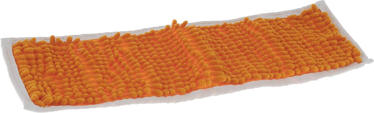 Насадка для швабры Коллекция, цвет: оранжевый, 43 х 13 смХ5ТРШ_оранжевыйНасадка на швабру Коллекция, изготовленная из 100% полиэстера, предназначена для влажной и сухой уборки напольных покрытий: паркет, линолеум, кафель и так далее. Обладает большой впитывающей способностью. Не оставляет разводов и ворсинок, прекрасно собирает пыль и удаляет загрязнения. Легко споласкивается водой, не требует дополнительного ухода. Размер насадки: 43 х 13 см. Высота ворса: 1,5 см.