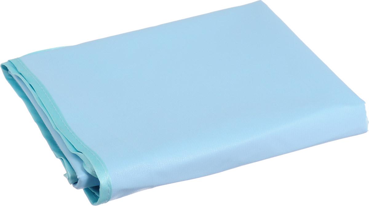 Колорит Клеенка подкладная с резинками-держателями цвет голубой бирюзовый 70 х 100 см
