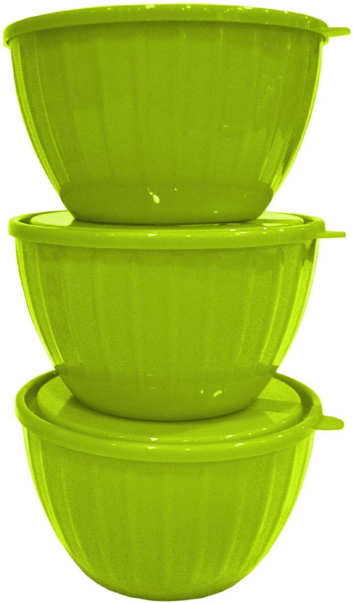 Набор салатников Giaretti Fiesta, с крышками, цвет: оливковый, 0,6 л, 3 штGR1865ОЛСерия салатников Fiesta – новая итальянская новинка от Giaretti. Они выгодно подчеркнут Преимущества ваших блюд. Салатники объемом 0,6 л удобно помещаются друг в друга, что позволяет практично использовать пространство для хранения. Идеально подходят для подачи салатов порционно, индивидуально каждому гостю! Советуем комбинировать с салатниками Fiesta объемом 1,7 литра, 2,8 литра, а также 5 литров.