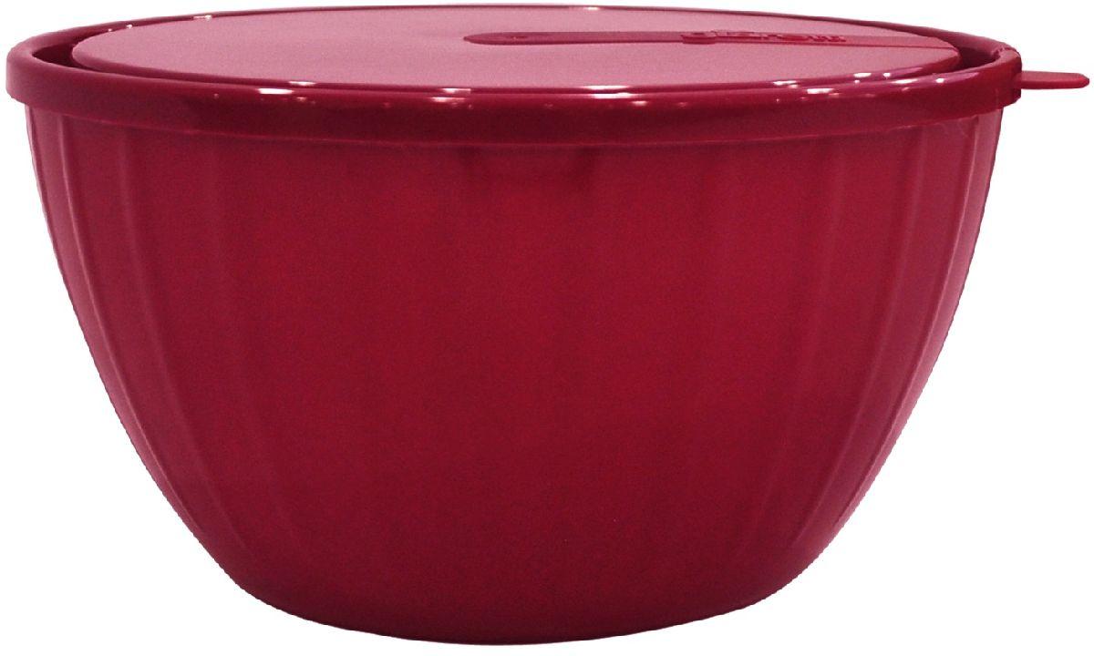 Салатник Giaretti Fiesta, с крышкой, цвет: ягодный, 5 лGR1868ЯГДПластиковый салатник предназначен не только для подачи, но и для хранения салатов. Удобная крышка помогает сохранять свежесть продуктов, а сам салатник достаточно легок для транспортировки! Он создан из абсолютно безопасных пищевых материалов, так что вы можете не волноваться о сохранении качества продуктов. Для большего удобства советуем приобретать салатники Fiesta объемом 1,7 литра и 2,8 литра.