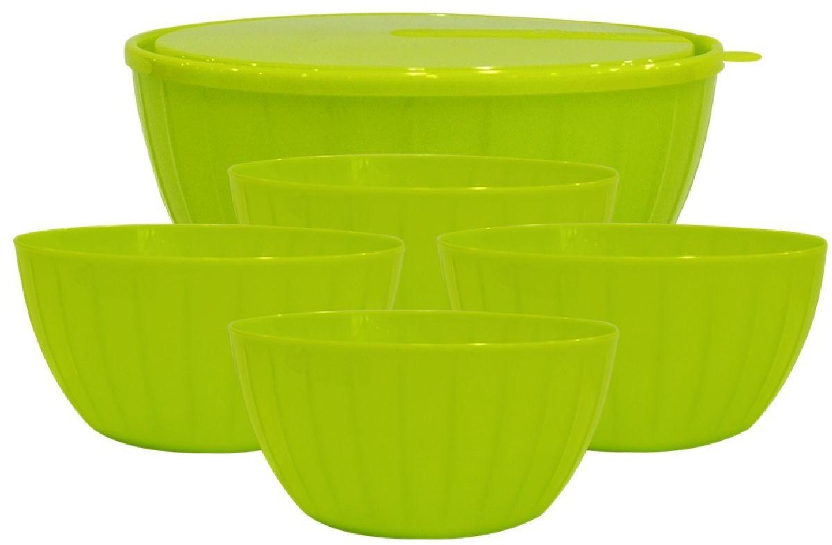Набор салатников Giaretti Fiesta, цвет: оливковый, 6 предметовGR1870ОЛСпециально для любителей готовить и истинных гурманов мы выпустили набор салатников Fiesta объемом 5 литров (1 шт), а также 0,6 литров (4шт). Они подойдут как для мелконарезанных салатов, так и для крупнолистовых. Согласитесь, такой набор салатников порадует своей функциональностью!
