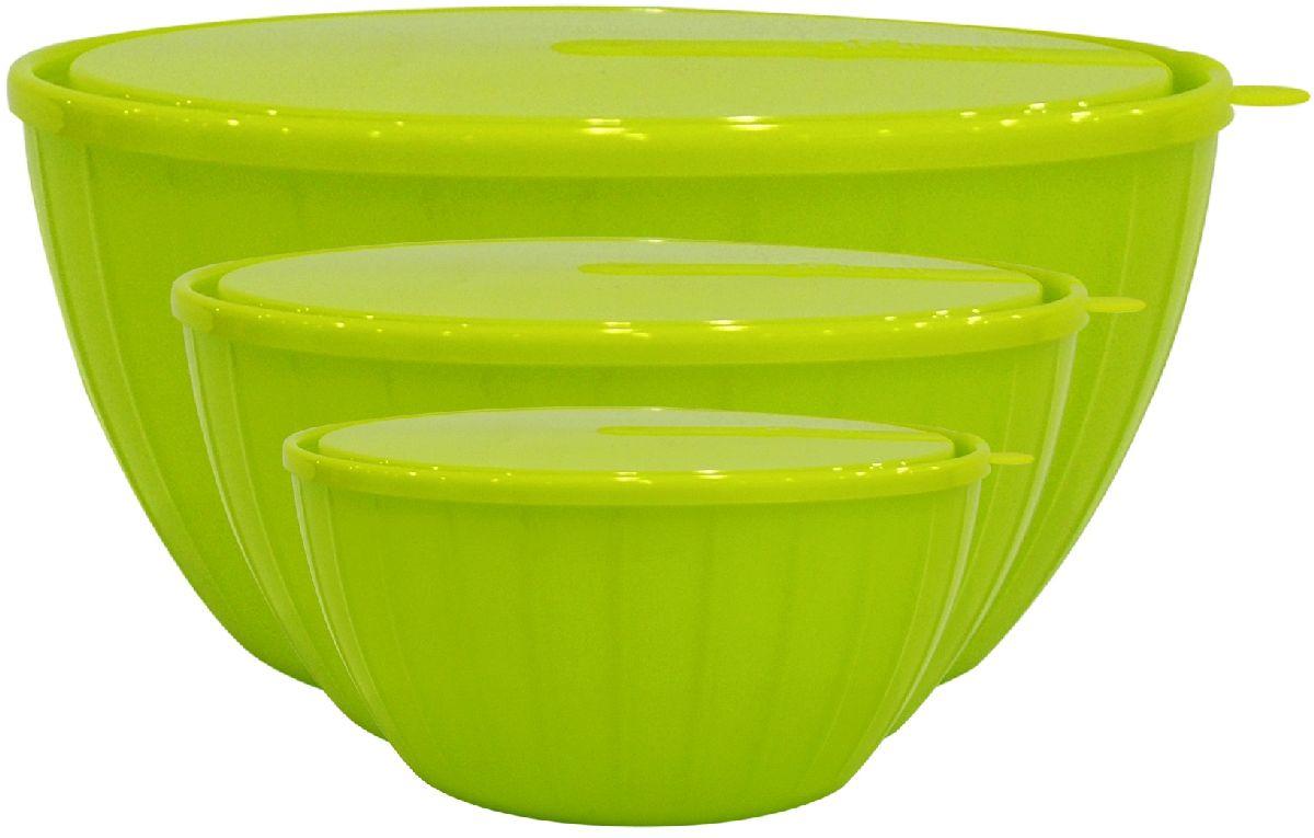 Набор салатников Giaretti Fiesta, с крышками, цвет: оливковый, 3 предметаGR1871ОЛСпециально для любителей готовить и истинных гурманов мы выпустили набор салатников Fiesta объемом 5 литров, 2,8 литра, а также 1,7 литра. Ваши кулинарные эксперименты надолго сохранят вкус и запах благодаря плотно закрывающейся крышке! Согласитесь, такой набор салатников порадует своей функциональностью!