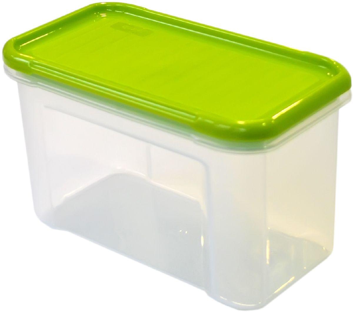 Банка для сыпучих продуктов Giaretti Krupa, цвет: оливковый, прозрачный, 0,75 лGR2231ОЛБанки для сыпучих продуктов предназначены для хранения круп, сахара, макаронных изделий, сладостей и т.п., в том числе для продуктов с ярким ароматом (специи и пр.). Строгая прямоугольная форма банок поможет Вам организовать пространство максимально комфортно, не теряя полезную площадь. При этом банки устанавливаются одна на другую, что способствует экономии пространства в Вашем шкафу. Плотная крышка не пропускает запахи, и они не смешиваются в Вашем шкафу. Благодаря разнообразным отверстиям в дозаторе, Вам будет удобно насыпать как мелкие, так и крупные сыпучие продукты, что сделает процесс приготовления пищи проще.