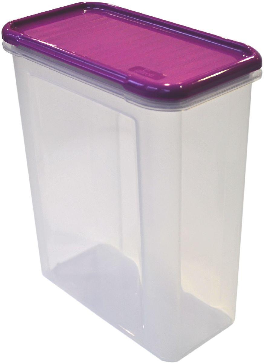 Банка для сыпучих продуктов Giaretti Krupa, цвет: черничный, прозрачный, 1,5 лGR2233ЧРНБанки для сыпучих продуктов предназначены для хранения круп, сахара, макаронных изделий, сладостей и т.п., в том числе для продуктов с ярким ароматом (специи и пр.). Строгая прямоугольная форма банок поможет Вам организовать пространство максимально комфортно, не теряя полезную площадь. При этом банки устанавливаются одна на другую, что способствует экономии пространства в Вашем шкафу. Плотная крышка не пропускает запахи, и они не смешиваются в Вашем шкафу. Благодаря разнообразным отверстиям в дозаторе, Вам будет удобно насыпать как мелкие, так и крупные сыпучие продукты, что сделает процесс приготовления пищи проще.
