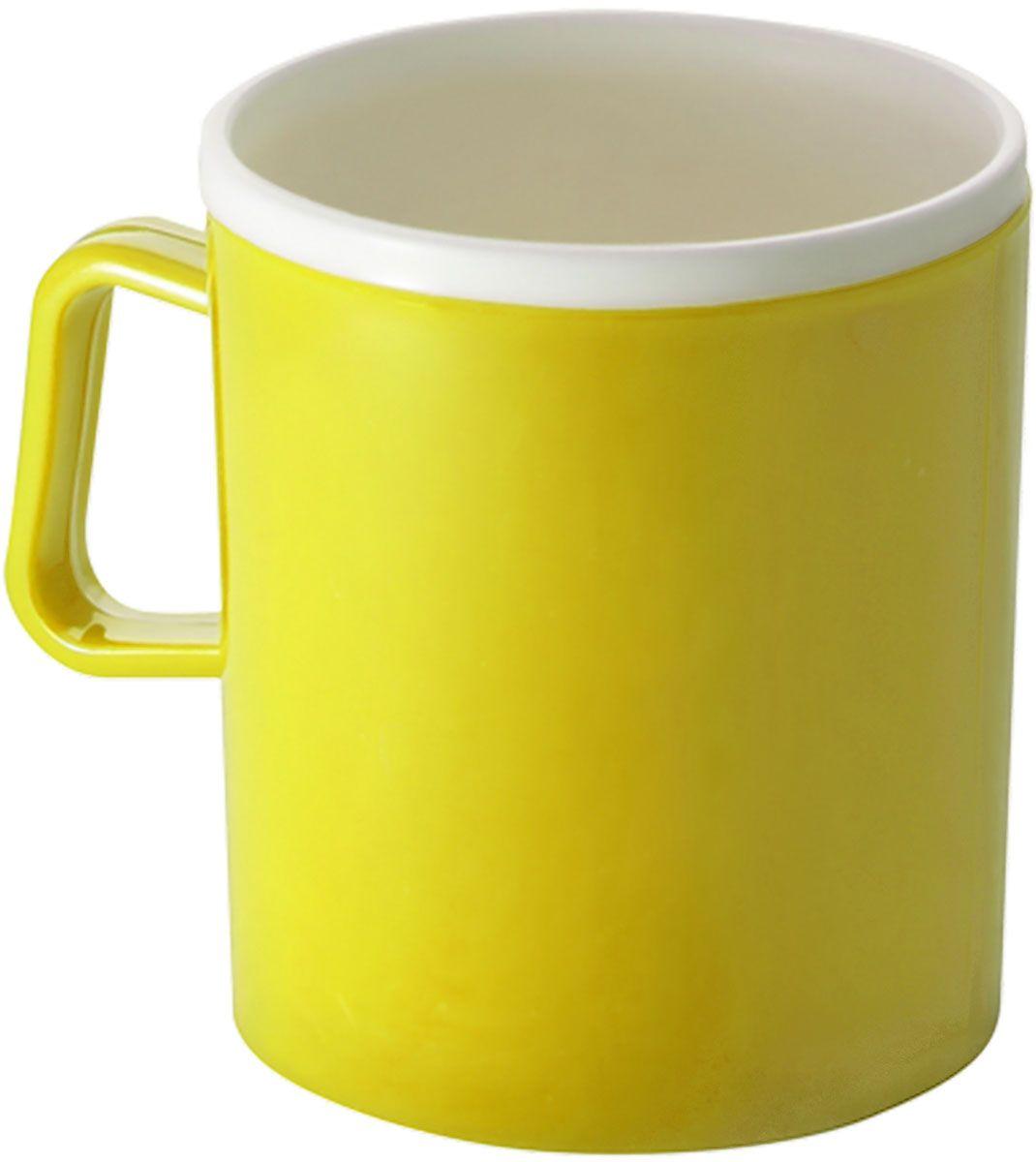 Термокружка Plastic Centre, двойная, цвет: желтый, 0,35 лПЦ1120ЛМНТермокружка с двойными стенками предназначена для горячих напитков и прекрасно сохраняет их температуру. Прочный пластик подходит для многократного использования. Легкую кружку удобно взять с собой на природу или в поездку. Объем 0,35 л.