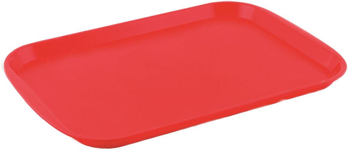 Поднос Plastic Centre Титан, цвет: красный, 36,5 х 25,5 смПЦ1443КРПоднос универсальный большой для переноски посуды. Прочный материал обеспечивает долговечность изделия. Рельефная поверхность предотвращает скольжение посуды на подносе.