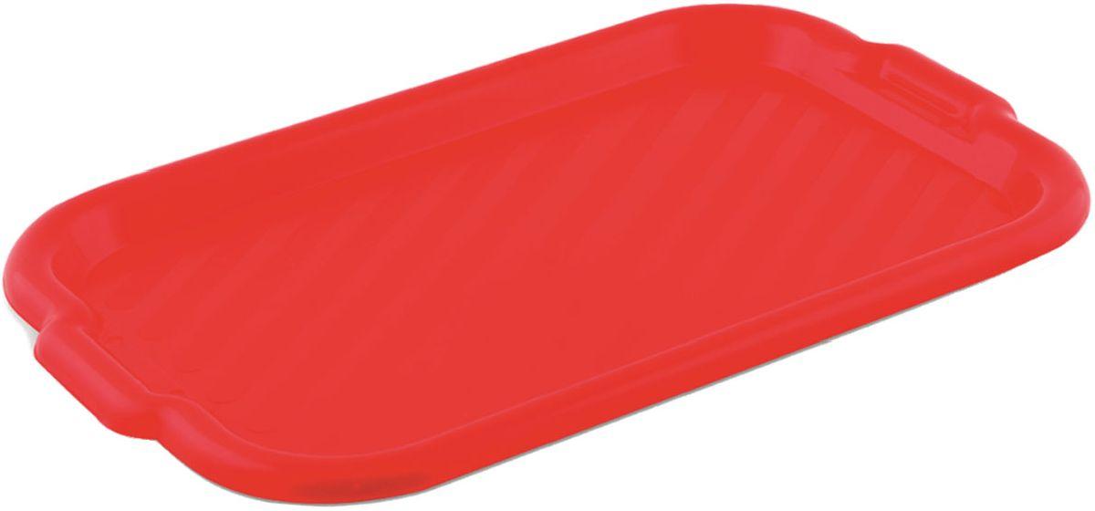 Поднос Plastic Centre, универсальный, цвет: красный, 43 х 27,5 смПЦ1455КРПоднос универсальный малый для переноски посуды. Прочный материал обеспечивает долговечность изделия. Рельефная поверхность предотвращает скольжение посуды на подносе.