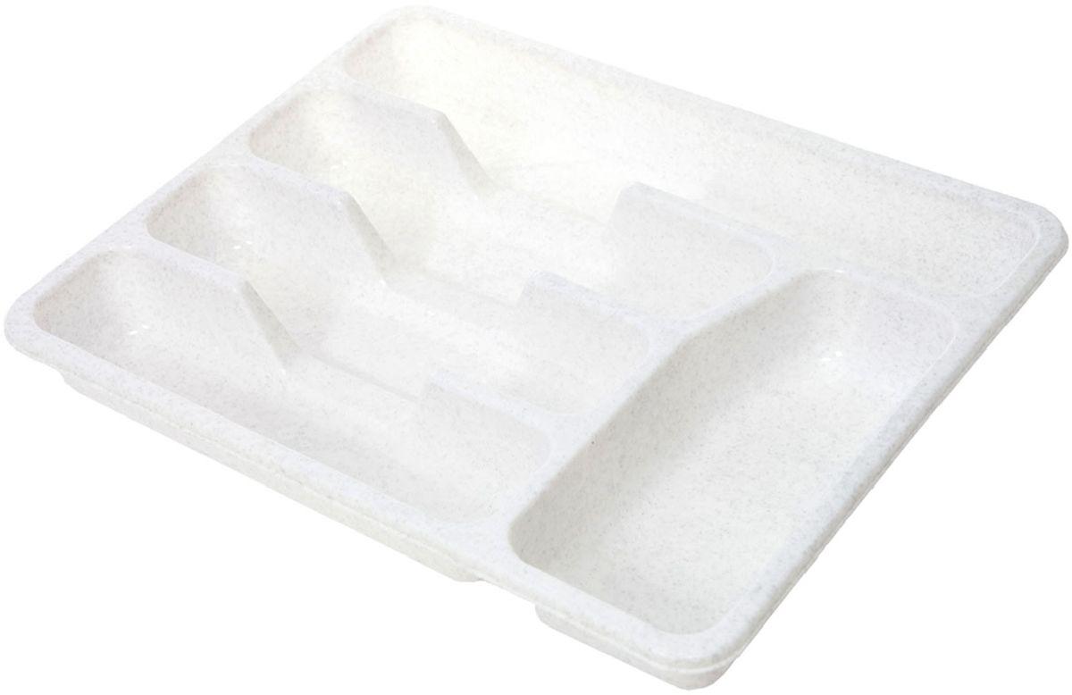 Лоток для столовых приборов Plastic Centre, цвет: мраморный, 33 х 26 х 4,3 смПЦ1560МРЛоток для столовых приборов поможет содержать ящик, где хранятся ложки и вилки, в полном порядке. Прочный пластик легко моется и прослужит долгое время.
