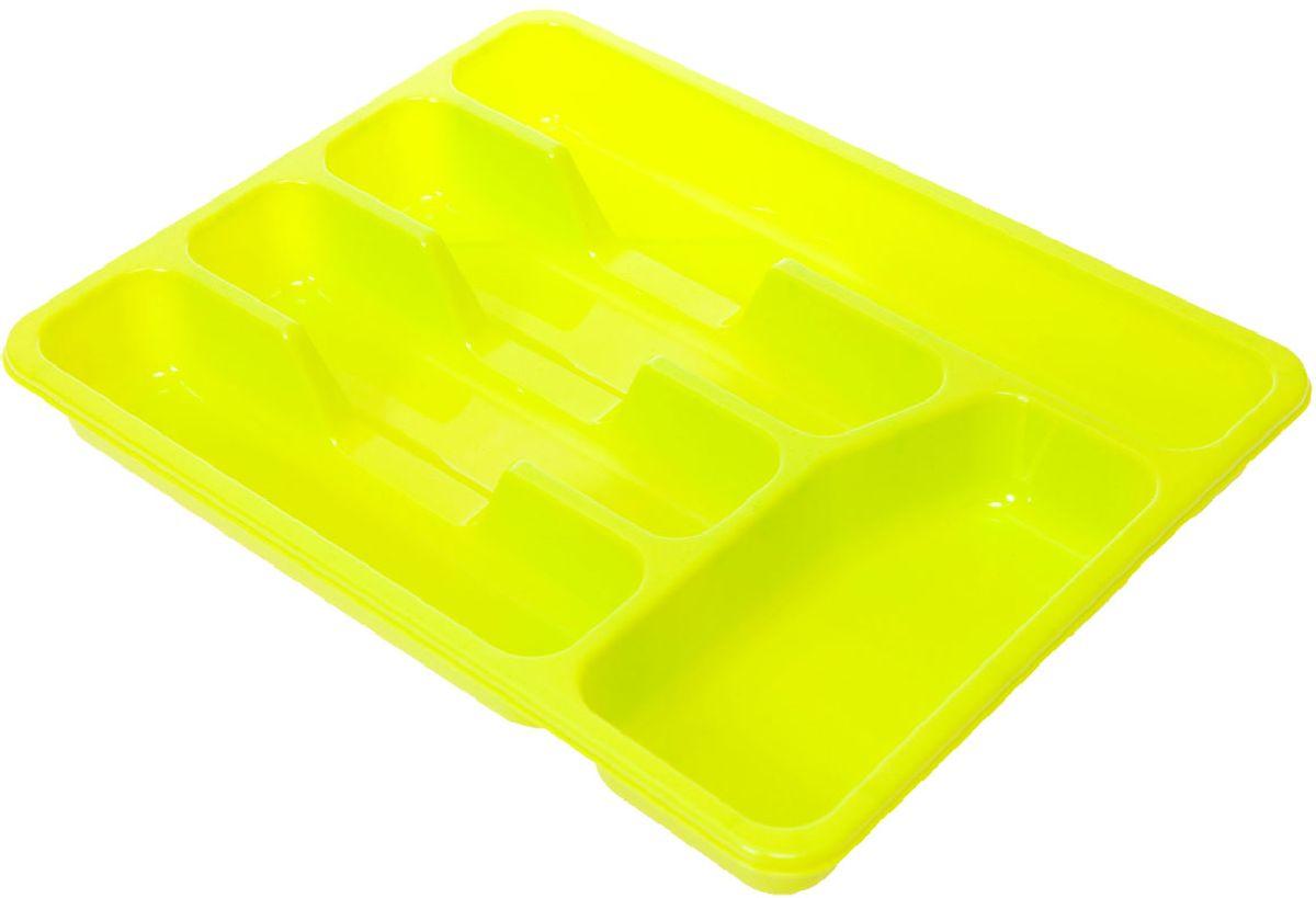 Лоток для столовых приборов Plastic Centre, цвет: фисташковый, 33 х 26 х 4,3 смПЦ1560ФСТЛоток для столовых приборов поможет содержать ящик, где хранятся ложки и вилки, в полном порядке. Прочный пластик легко моется и прослужит долгое время.