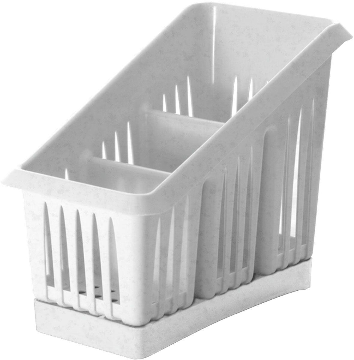 Сушилка для столовых приборов Plastic Centre Лилия, 3-секционная, цвет: мраморный, 20 х 12 х 16 смПЦ1564МРСушилка для столовых приборов пригодится на любой кухне. Три секции позволят сушить или хранить столовые приборы по отдельности (ножи, вилки, ложки и т.п.). Сушилка снабжена поддоном для стока воды с приборов.