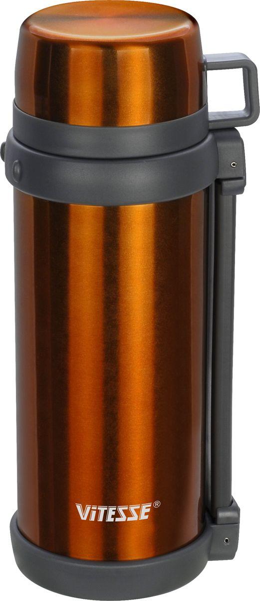 Термос Vitesse, 1500 мл. VS-1412VS-1412Термос Vitesse, 1500 мл Корпус и колба из нержавеющей стали Широкая горловина Комбинированная пробка (для еды и напитков) Крышка-чашка Дополнительная пластиковая чашка Удобные ручка и ремень для переноски Можно мыть в посудомоечной машине
