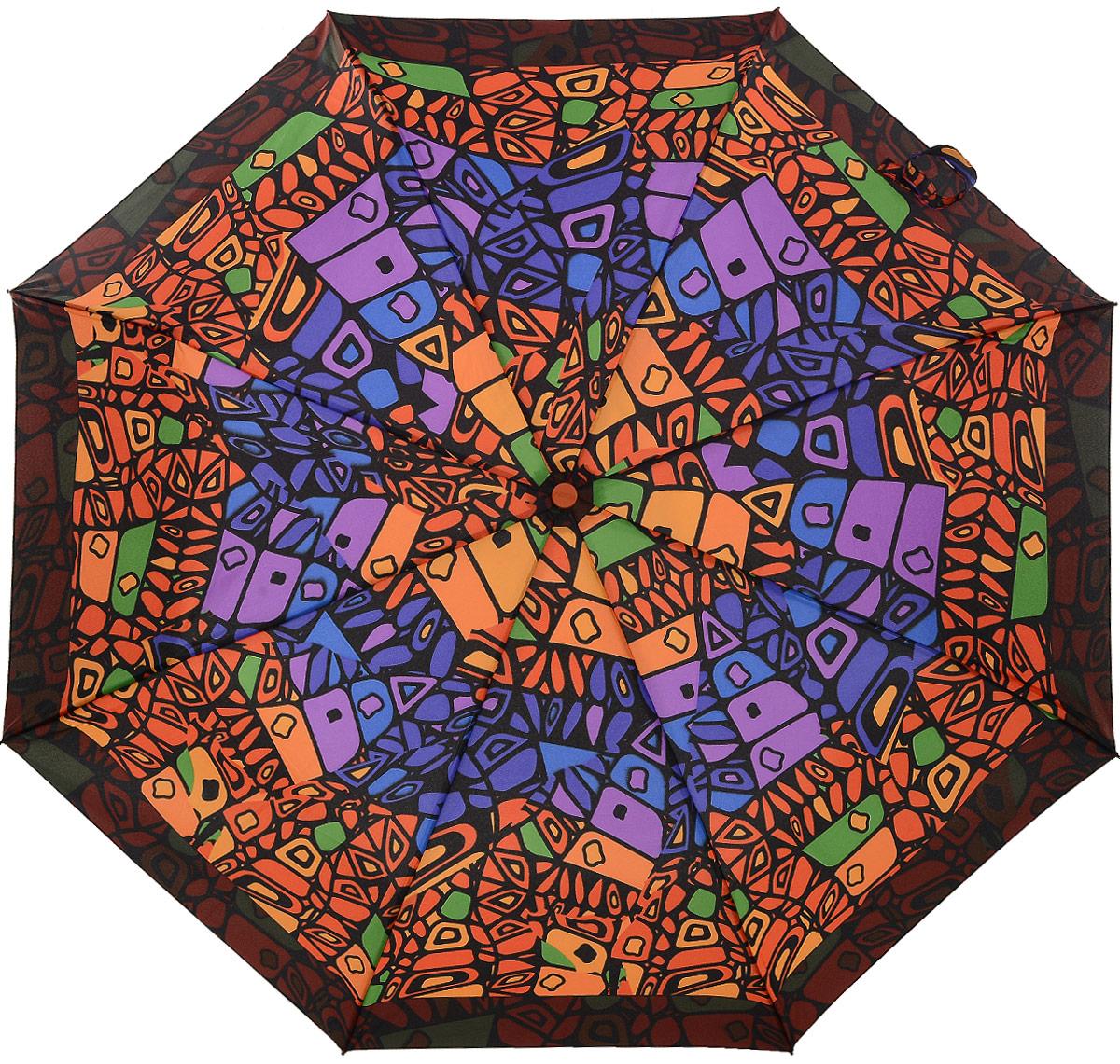 Зонт женский Airton, механический, 3 сложения, цвет: оранжевый, фиолетовый. 3515-3133515-313Классический женский зонт Airton в 3 сложения имеет механическую систему открытия и закрытия. Каркас зонта выполнен из восьми спиц на прочном стержне. Купол зонта изготовлен из прочного полиэстера. Практичная рукоятка закругленной формы разработана с учетом требований эргономики и выполнена из качественного пластика. Такой зонт оснащен системой антиветер, которая позволяет спицам при порывах ветрах выгибаться наизнанку, и при этом не ломаться. К зонту прилагается чехол.