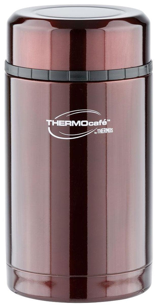 Термос Thermocafe By Thermos, цвет: кофейный, 0,42 л. VC-420272577Термос из нержавеющей стали лучший вариант для автопутешествий, пеших передвижений, походов на пикник, на рыбалку или охоту. Широкое горло, полноразмерная крышка - чашка позволит использовать термос для первых и вторых блюд. Термос — легкий и компактный, удобен в транспортировке и хранении.