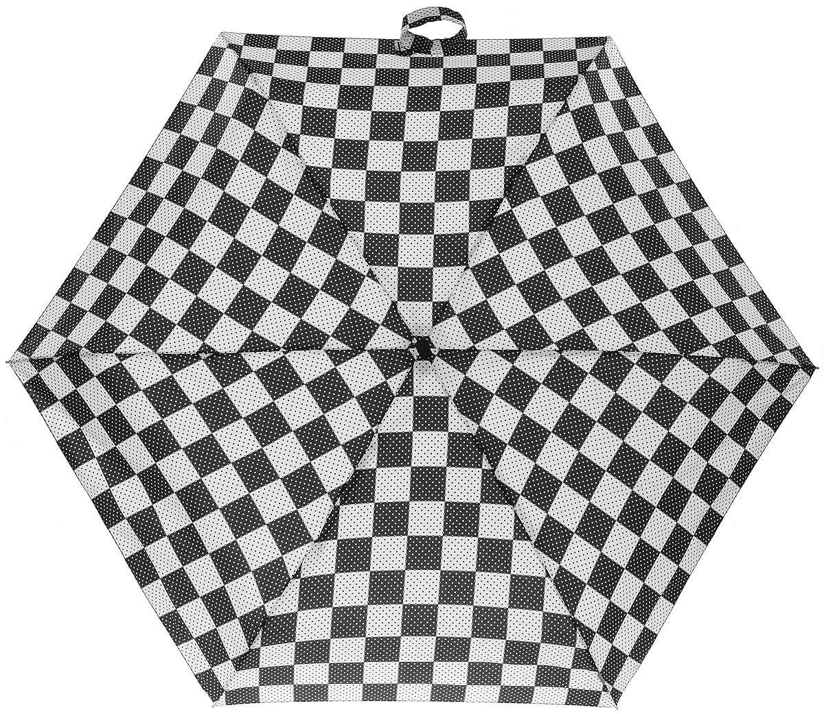Зонт женский Zest, механический, 5 сложений, цвет: черный, белый. 25518-10325518-103Зонт классической модели из мягкой и приятной на ощупь ткани, знаменитое венгерское качество имеющее многовековую традицию.